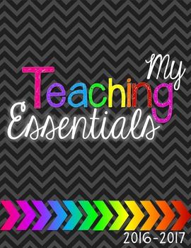 Teaching Essentials Binder in Black Chevron with a Pop of Color