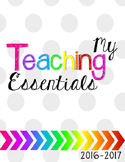 *Teaching Essentials Binder in Gray with a Pop of Color
