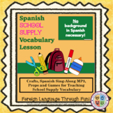 Spanish School Supplies Lesson for Kids!