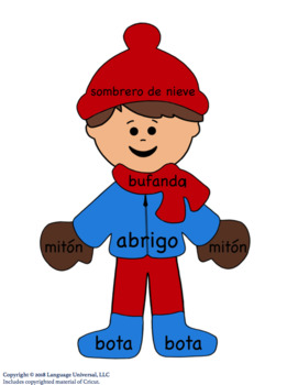 Teaching Spanish Winter Clothes Vocabulary!