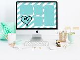 """Teal Appeal"" Desktop Organizer (customizable)"