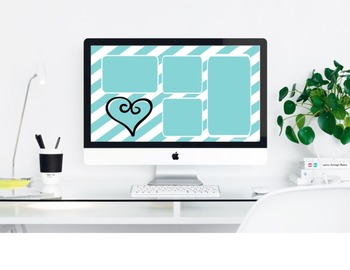 """Teal Appeal"" Desktop Organizer (customizable)"