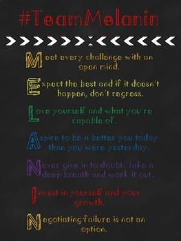 #TeamMelanin Motivational Poster