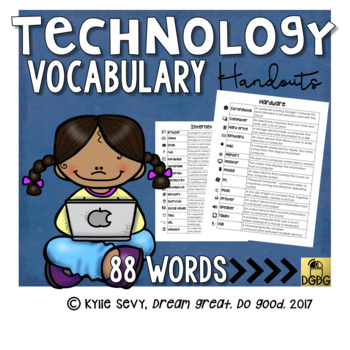 ♥ Technology Vocabulary Bundle with Icons ♥ for the computer lab
