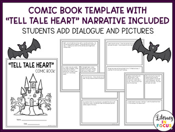 """Tell Tale Heart"" Comic Book Assignment- Students Create Their Own Comic Book!"
