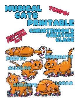 """Tempo Cats"" Bulletin Board Posters"