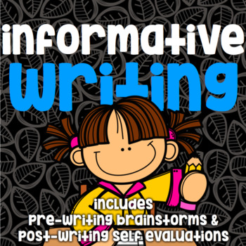 Writing - Informative - No Prep Guided Practice - Pre and Post Write
