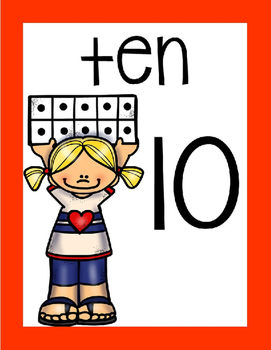 {Ten Frames} Number Posters