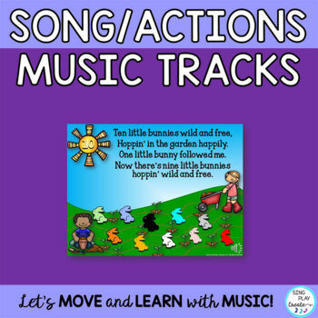 "Activity Song:""Ten Little Bunnies"" with Drama, Writing, Puppets, Mp3"