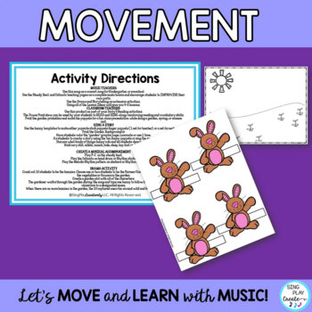"Preschool Song:""Ten Little Bunnies"" Spring Literacy, Drama, Writing, Puppets Mp3"