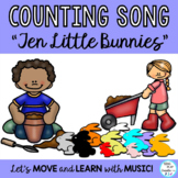 """Bunny Action Song with Literacy, Drama and Movement  """"Ten Little Bunnies"""""""