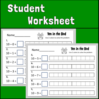"""""""Ten in the Bed"""" Math Flipchart"""