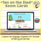 """""""Ten on the Sled"""" Book Companion Boom Cards for Distance Learning"""
