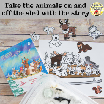 """Ten on the Sled"" Speech and Language Book Companion"
