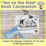 """""""Ten on the Sled"""" Speech and Language Book Companion"""