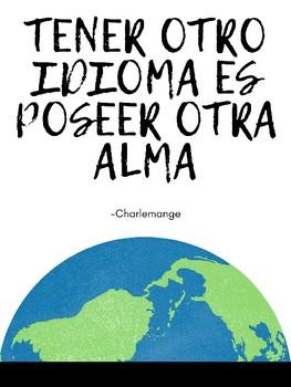 """Tener otro idioma.."" Poster ~ Free!"