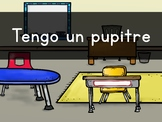 """Tengo UN pupitre"" Pre-Primer Sight Word Video, Slideshow & PDF"