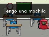 """""""Tengo UNA mochila"""" Pre-Primer Sight Word Video, Slideshow & PDF"""