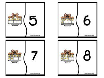 """""""Tens"""" of Shadows:   LOW PREP Ten Frame Groundhog Day Themed Puzzles"""