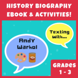 FREEBIE Andy Warhol History Biography eBook w/ Printables, Activities, & Puzzles