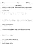 """Thank You, Ma'am"" Review Worksheet (or Test) and Comprehe"
