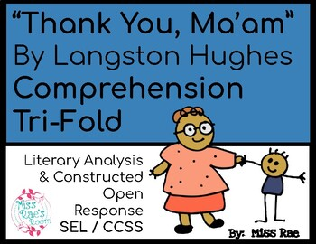 Thank You, Ma'am By Langston Hughes Short Story Comprehension Questions CCSS SEL