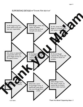 """Thank You Ma'am"" by Langston Hughes Activity Pack: 50 pages:  Literacy skills"