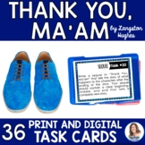 """Thank You, Ma'am"" by Langston Hughes Task Cards with EDITABLE Templates"