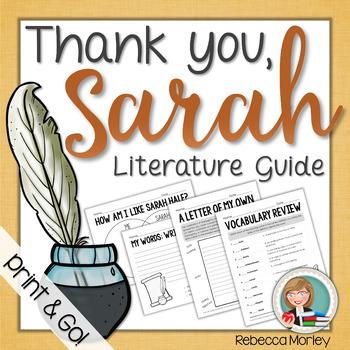 """Thank You, Sarah!"" Literature Guide"