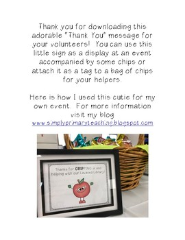 """Thank You"" sign or tag FREEBIE"