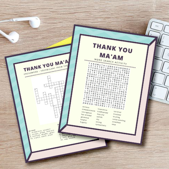 """Thank you Ma'am"" by L. Hughes (Vocabulary builder)"