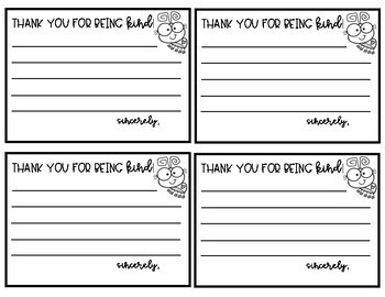 """Thank you for Being Kind"" Notes - FREEBIE!"