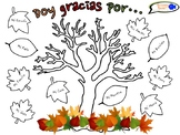 """Thankful Tree"" Activity for Spanish Students"