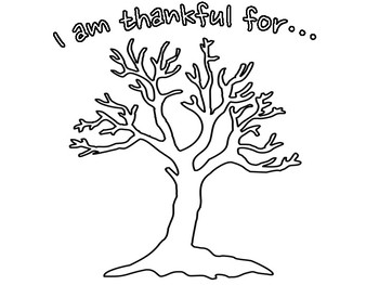 """""""Thankful Tree"""" Activity for Students (English Version)"""