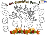 """Thankful Tree"" Activity for Students (English Version)"