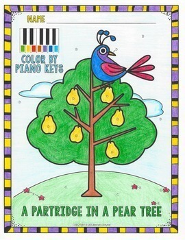 Music Coloring Sheets: 12 Days of Christmas {Color by Music Symbol}