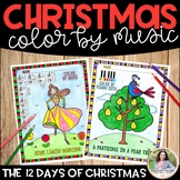 Music Coloring Sheets: 12 Days of Christmas {Color by Musi