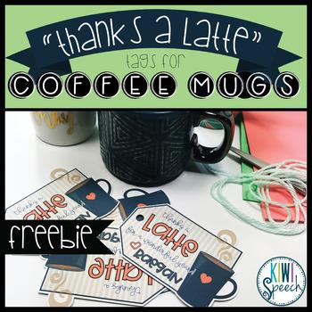 """Thanks a Latte"" Thank You Tags - EDITABLE {FREEBIE}"