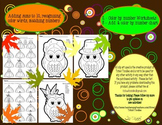 * Thanksgiving * Add & Color by Number * Math Worksheets