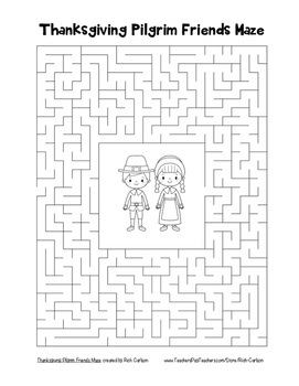 """""""Thanksgiving Bundle of 30 Mazes""""! SAVE 80%! Holiday FUN! (Color and Black Line)"""
