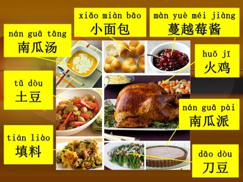 感恩节 Thanksgiving Chinese Vocabulary