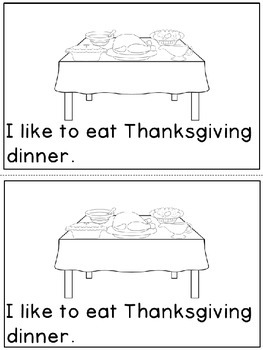 """Thanksgiving Dinner"" Emergent Reader (A Thanksgiving/November Dollar Deal)"
