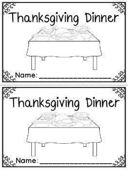 """Thanksgiving Dinner"" Emergent Reader (A Thanksgiving/Nove"