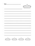 """Thanksgiving Pumpkin Pie"" Writing Sheets!  Holiday FUN! (Black Line)"