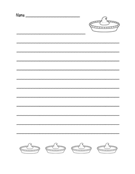 """Thanksgiving Pumpkin Pie"" Writing Sheets! Holiday FUN! (Color & Black Line)"