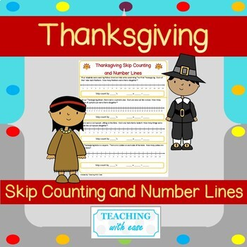 **Thanksgiving** Skip Counting and Number Lines