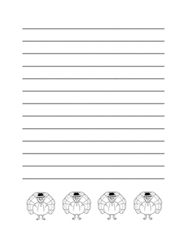 """""""Thanksgiving Turkey"""" Writing Sheets! Holiday FUN! (Color and Black Line)"""