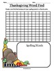 * Thanksgiving and Autumn Spelling Worksheets for homework or classwork *