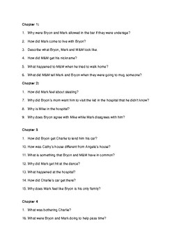 """""""That was Then, This was Now"""" S.E. Hinton content questions with answer key"""