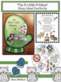 """The 3 Little Kittens"" Nursery Rhyme Story Wheel Craft"